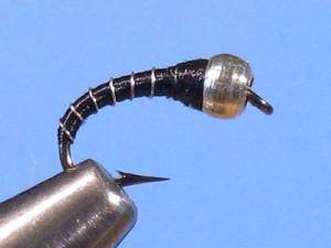 Black Zebra Midge - Winter Fly Fishing
